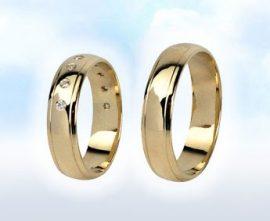 """Sárga arany karikagyűrű: """"ROMÁNC"""""""