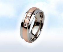 """Fehér-rózsa arany karikagyűrű: """"RÓZSAKERT"""""""