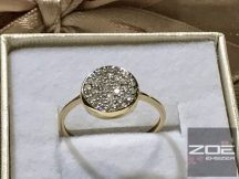 Sárga arany női/ ELJEGYZÉSI GYŰRŰ, cirkónia kövekkel   au182