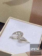 Fehér arany köves gyűrű  (G105) Au 1889