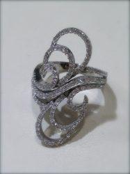 Cirkónia köves ezüst gyűrű  Ag 1961