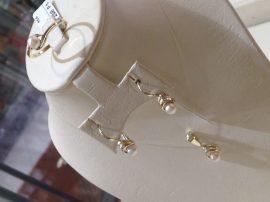 Sárga arany IGAZGYÖNGY SZETT - gyűrű, füli, medál Au 275,274,273