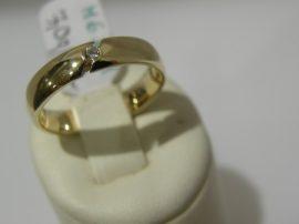 """Sárga arany karikagyűrű 1 kővel """" CLASSIC"""""""