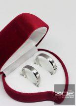 Ezüst karikagyűrű pár - selyem matt, K2