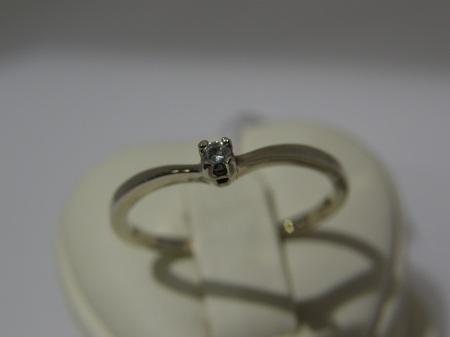 """""""Viktória"""" fehér arany eljegyzési gyűrű, BRILLEL"""