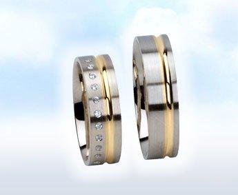 "Fehér-sárga köves karikagyűrű:"" CSILLÁM"""