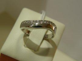 Fehér arany eljegyzési gyűrű Au 241( rendelésre)