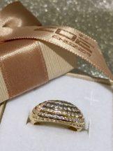 Sárga arany köves gyűrű Au 207