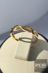 Sárga arany női gyűrű, kő nélkül