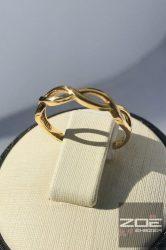 Sárga arany női gyűrű, kő nélkül Au 952