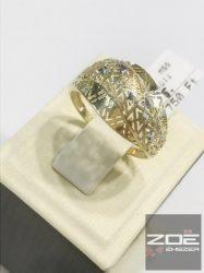 Sárga arany áttört mintás gyűrű  Au2305