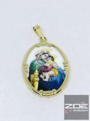 Porcelán medál - Szűz Mária a kis Jézussal Au 3048
