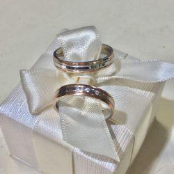 Aranyozott EZÜST karikagyűrű - T419