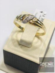 Sárga arany cirkónia köves női gyűrű   ( 71-es méret ! )    Au205