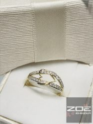Sárga arany szivecskés gyűrű, cirkónia kövekkel . ELJEGYZÉSRE IS !    Au2652