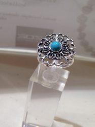Türkiz köves ezüst gyűrű Ag 796