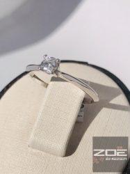 Fehér arany ejegyzési gyűrű