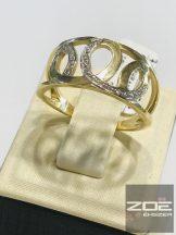 Sárga arany női gyűrű, cirkónia kövekkel   Au835