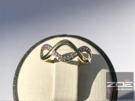 Sárga arany női gyűrű, kövekkel Au  2548