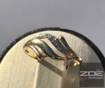 Sárga-fehér arany női köves gyűrű