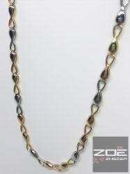 SÁRGA-FEHÉR-ROZÉ arany nyakék / nyaklánc Au2328