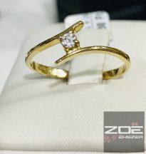 18 karátos sárga arany gyűrű/ eljegyzési gyűrű BRILLel Au 868,