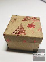 Karácsony díszdoboz, gyűrűknek, füliknek 5x5x3,5cm