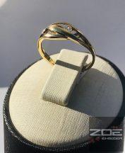 Sárga arany női gyűrű, egy kővel Au 2670