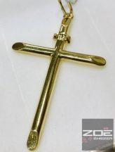 Sárga arany kereszt medál   Au 470