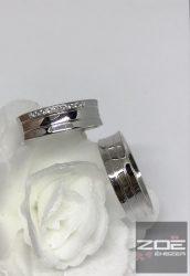 Fehér arany karikagyűrű- R162F