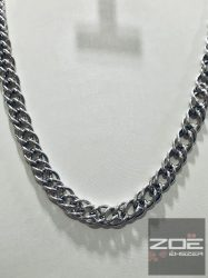 EZÜST dupla PANCER lánc 60 cm