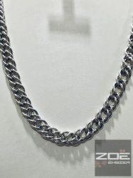EZÜST dupla PANCER lánc 60 cm Ag 135