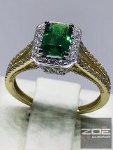 Zöld Köves arany gyűrű Au 2443