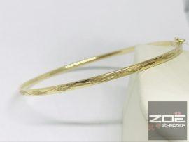Arany karreif, vésett mintával Au179