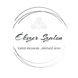 Sárga-fehér arany áttört mintás női medál