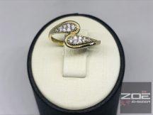 Sárga arany, köves női gyűrű