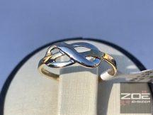"""Sárga-fehér arany női gyűrű, """"végtelen szerelem""""  Au 2446"""