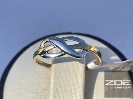 """Sárga-fehér arany női gyűrű, """"végtelen szerelem"""""""