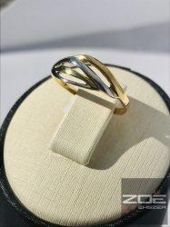 Sárga-fehér arany női gyűrű Au 2087