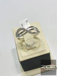 Fehér arany női gyűrű, cirkónia kövekkel   Au3188
