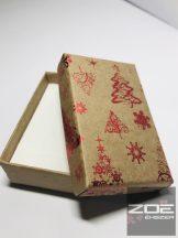Karácsonyi díszdoboz , kis szettes 8x5x2,7cm