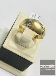 Sárga arany női, kő nélküli gyűrű   Au1926
