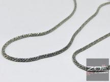 EZÜST, ANTIKOLT kígyóLÁNC SZETT - 55 cm, 20cm Ag3431, 3432,