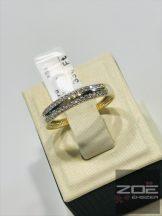 Sárga arany köves gyűrű  Au3197