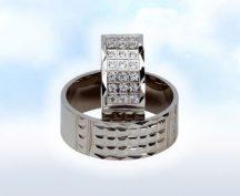 "Fehér arany 21 kővel: ""JUST MARRIED"""